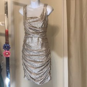 Silver Cocktail or Party Dress